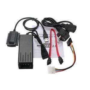 PACK CONNECTIQUE  Adaptateur/Convertisseur SATA/IDE USB 2.0 - Cable
