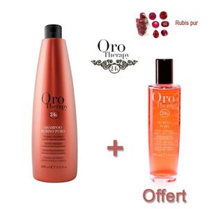 SHAMPOING Lot shampooing cheveux colorés 1000ml Oro Therapy