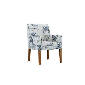 CHAISE Chaise de salon moderne à accoudoirs - Tissu en li
