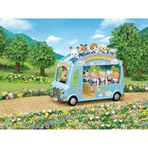 ACCESSOIRE DE FIGURINE SYLVANIAN FAMILIES 5317 Le Bus Arc-en-Ciel