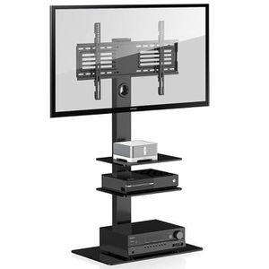 FIXATION - SUPPORT TV MMT cbm3 Noir Meuble TV avec support en porte-à-fa