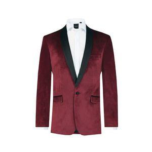Veste costume bordeaux homme pas cher