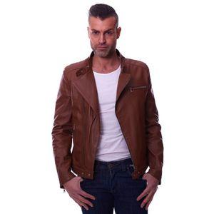 BLOUSON RANIERO • couleur marron • Blouson cuir homme perf