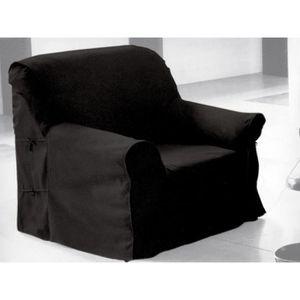 HOUSSE DE FAUTEUIL Housse de fauteuil en coton PANAMA anthracite.