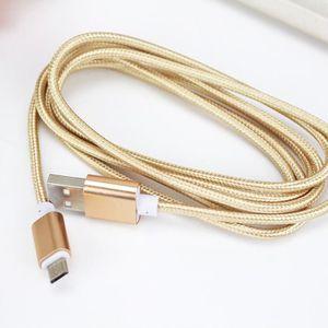 Câble - connectique GPS 1.5M Aluminium Nylon Câble de chargeur pour SAMSUN