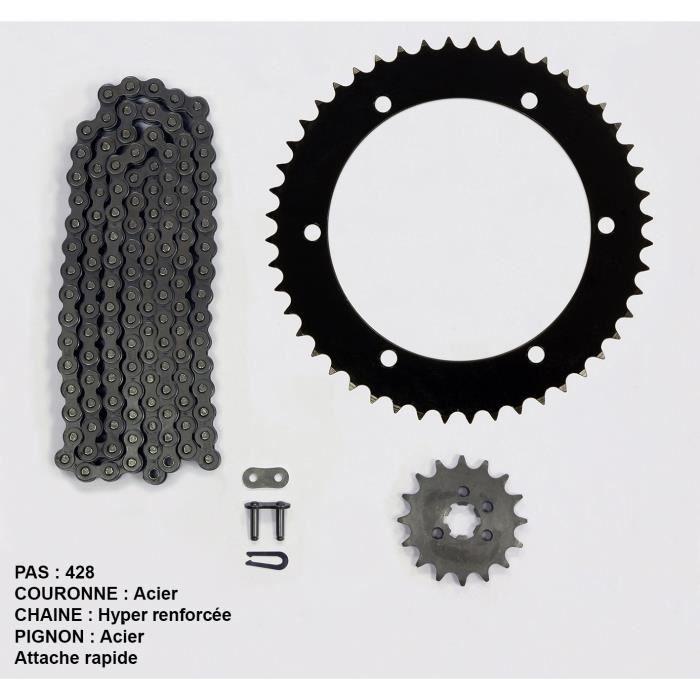 Kit chaîne pour Yamaha Wr R/X 125 de 09-