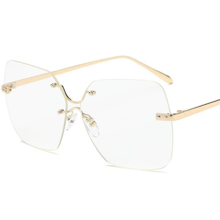 New Lady Sunglasses 2217 lunettes de soleil sans monture lEurope et les États-Unis mode lunettes de soleil lunettes de soleil hom