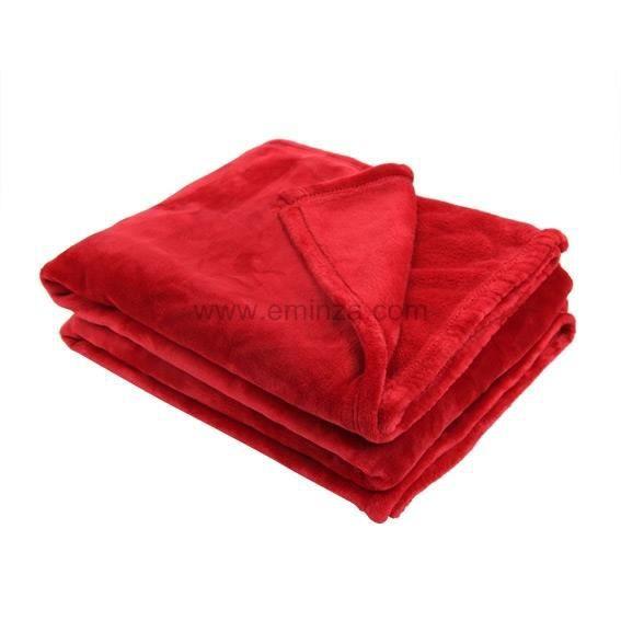plaid polaire doudou l160 cm rouge achat vente couverture plaid soldes d s le 10. Black Bedroom Furniture Sets. Home Design Ideas