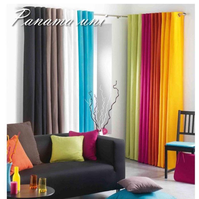 double rideaux oeillet meta achat vente double rideaux oeillet meta pas cher cdiscount. Black Bedroom Furniture Sets. Home Design Ideas