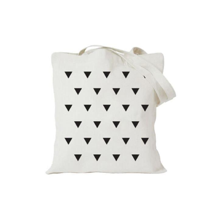 Tout match Toile Sac polyvalent sac fourre-tout, Triangle