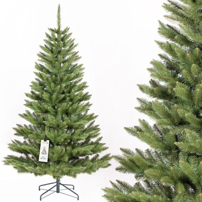 fairytrees arbre sapin artificiel de no l epic a naturel tronc d 39 arbre vert mati re pvc socle. Black Bedroom Furniture Sets. Home Design Ideas