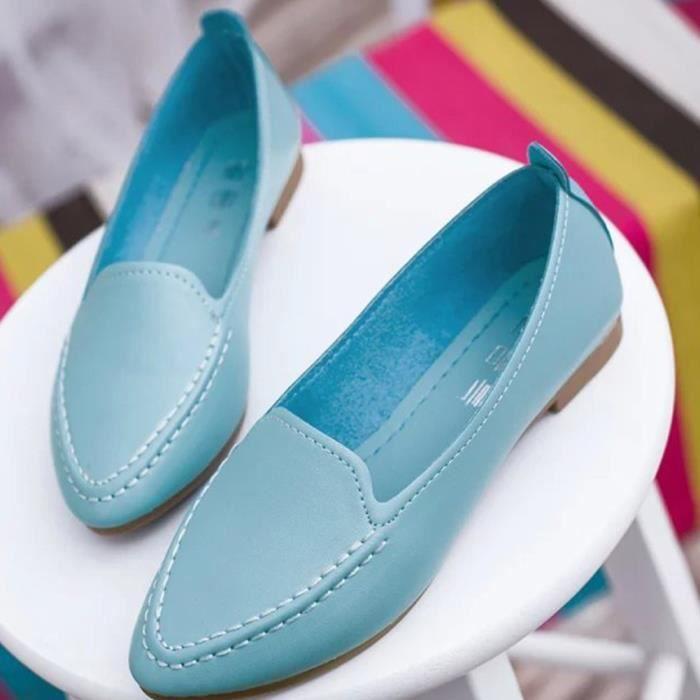 XZ652C6XZ652C6Les nouvelles femmes mignon Slip Casual Le Ballet Pointy Toe PU Chaussures plates en cuir 7wEJitfKe