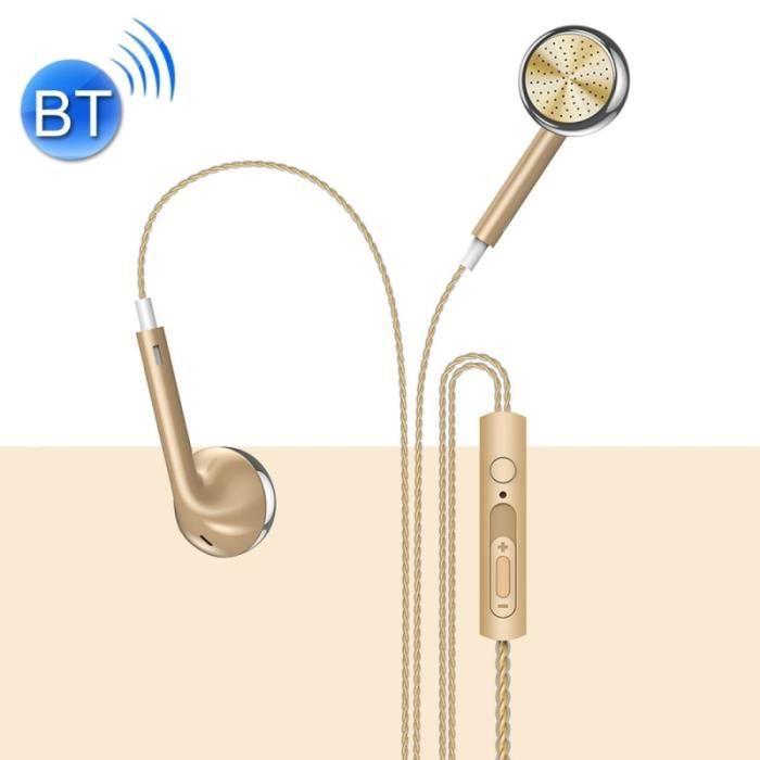 Écouteurs Or Pour Iphone, Samsung, Htc, Sony Et Autres Smartphones 3.5mm Plat Stéréo Filaire Dans L'oreille,