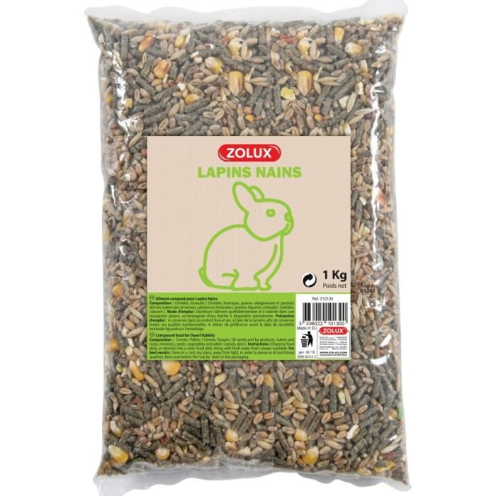 GRAINES Aliments Composes Lapins Nains Coussin 3Kg
