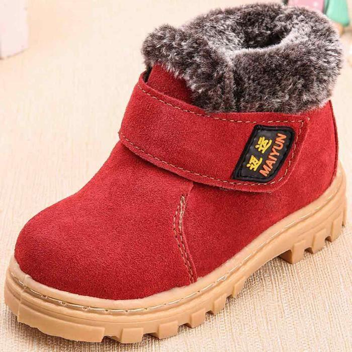 Rouge Chaud Hiver Spentoper Enfant Boot Neige Style Mode Coton Bébé Bottes De gwPSURwFq
