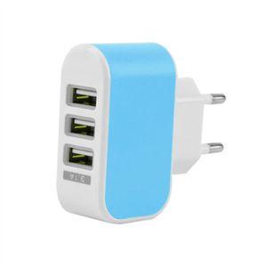 CHARGEUR TÉLÉPHONE Trois USB ports Chargeur mural Adaptateur secteur