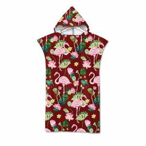 PEIGNOIR 140 * 75 cm Wearable Hooded Towel Adultes Cape Cap