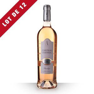 VIN ROSÉ 12X Château Cransac Privilège 2016 Rosé 75cl AOP F