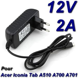 CHARGEUR - ADAPTATEUR  Chargeur 12V 2A Tablette Acer Iconia Tab A700