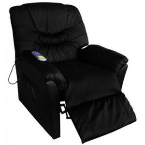 Fauteuil relax massant Noir Delux regarder TV design confortable