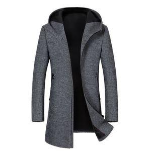 MANTEAU - CABAN Manteau Laine à Capuche Longue Homme Marque Luxe H