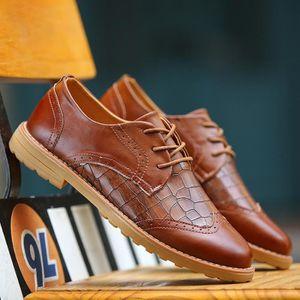 Mocassins en cuir Chaussures Oxford pour Chaussures habillées en cuir véritable homme rétro Derbies hommes,noir,41,135_135