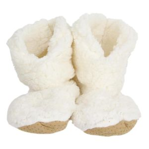 CHAUSSON - PANTOUFLE Chausson hiver 'Sherpa' beige - 23x17x9 cm (taille