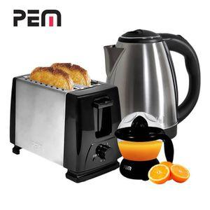LOT APPAREIL PETIT DEJ Petit déjeuner - Grille-pain 2 fentes + Bouilloire
