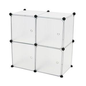 ARMOIRE DE CHAMBRE Armoire penderie cabinet etagère de 4 cubes de 35x