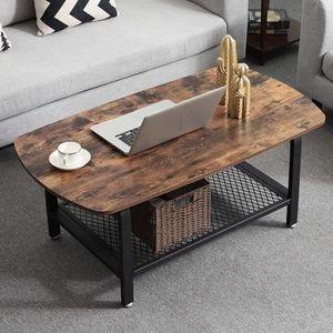 TABLE BASSE VASAGLE Table Basse Vintage, Style industriel, Tab
