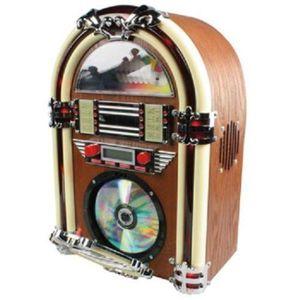 RADIO CD CASSETTE JUKEBOX RETRO AVEC NEON RADIO AM/FM ET LECTEUR CD