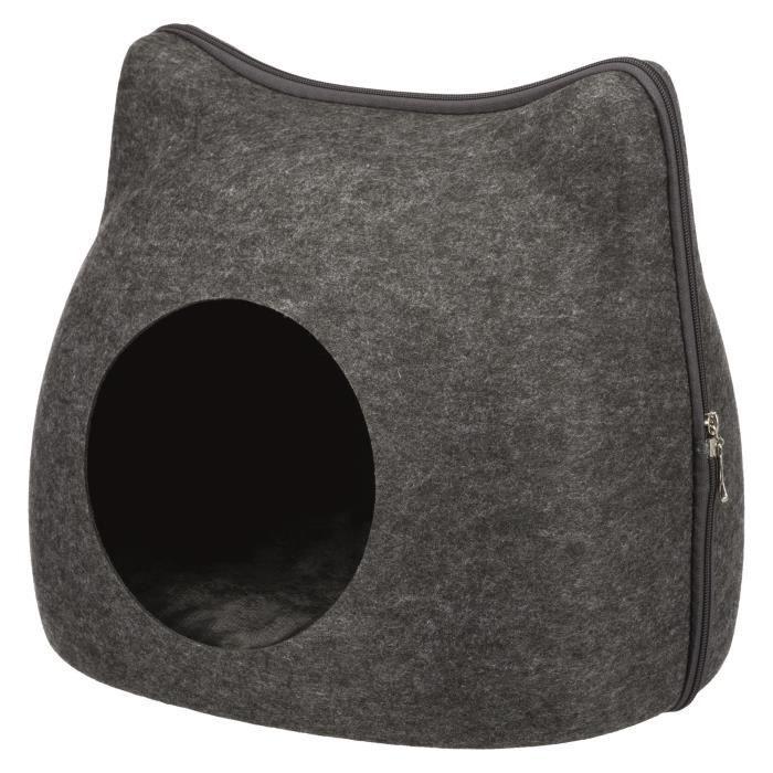 TRIXIE Abri douillet Cat 38 × 35 × 37 cm - Gris anthracite - Pour chat