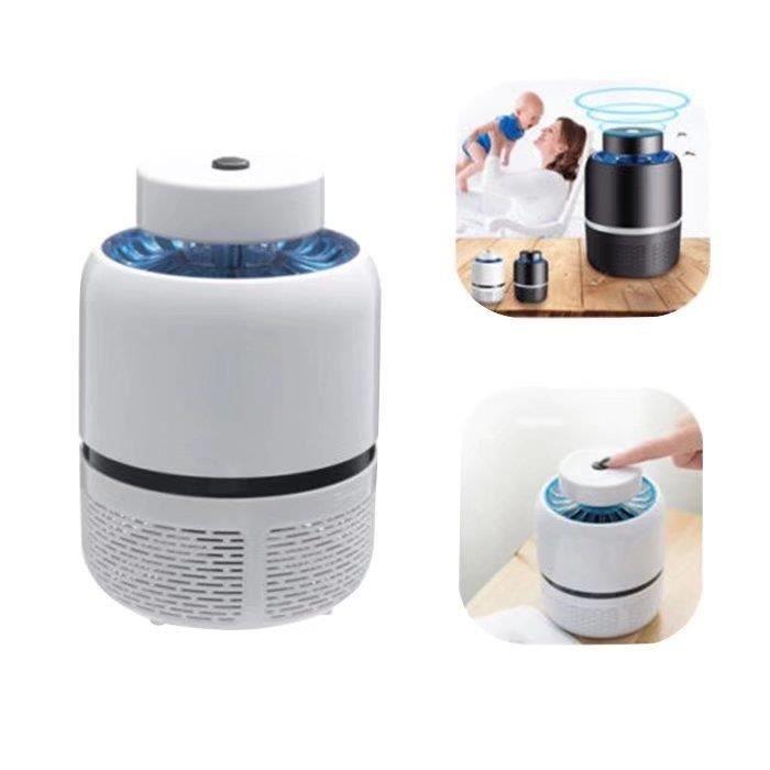 À Mini Anti Mosquito Led Moustiques Chargement Bug Lamp Lumière ZapperPiège Usb,blanc Killer Moustique wkn0O8XP