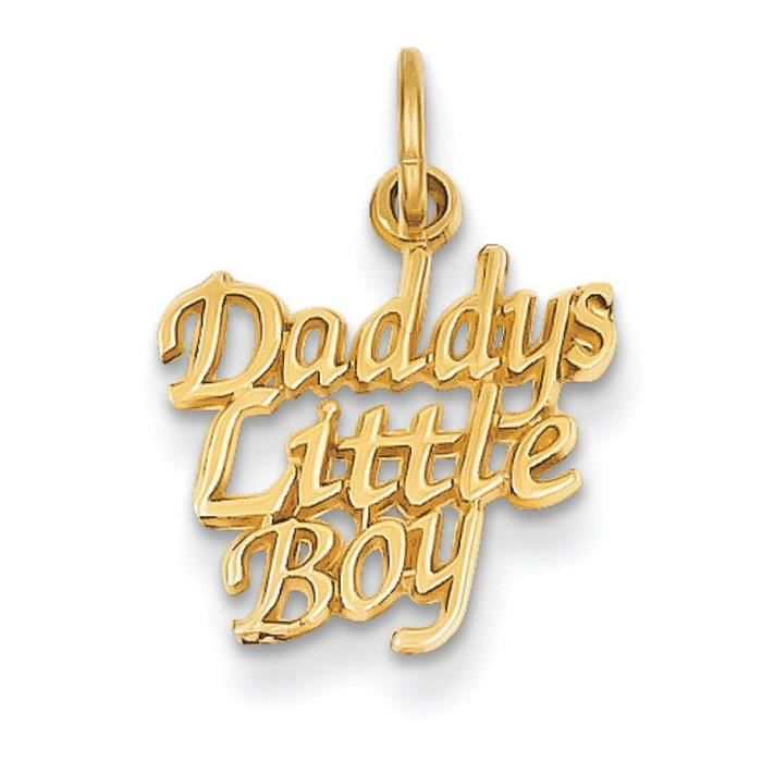 Message «Daddys Little Boy - 14 carats-Dimensions :19,7 x 13.9 mm
