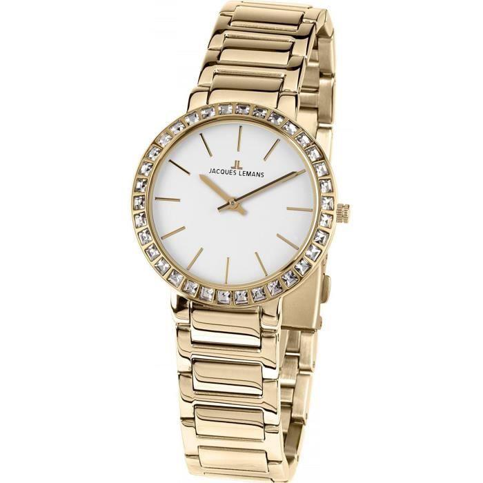 b517d655c8 Jacques Lemans MILANO 1-1843.1E Montre Bracelet pour femmes Classique &  Simple
