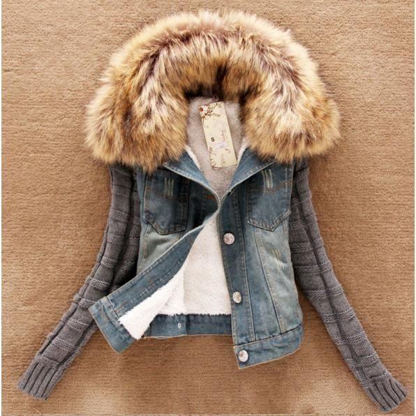 veste femme avec fourrure achat vente veste femme avec fourrure pas cher cdiscount. Black Bedroom Furniture Sets. Home Design Ideas