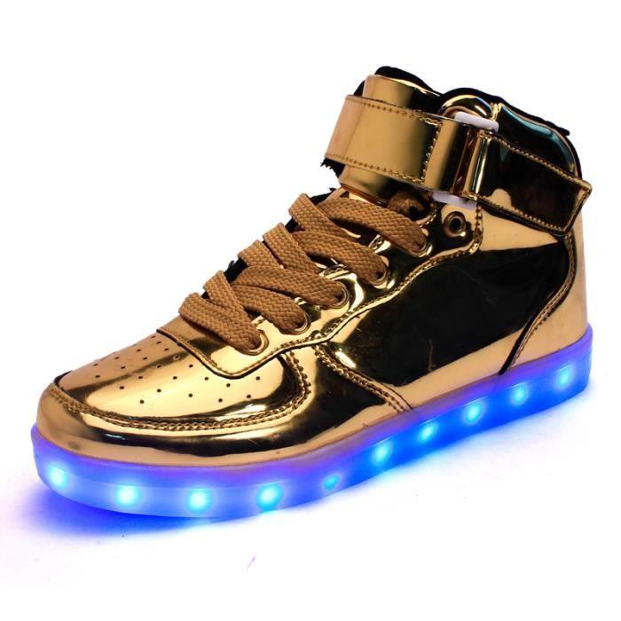 Haute qualité baskets LED 7 couleurs USB chaussures enfants LED lumineux rechargeable chaussures de sport de style clignotant pour e UPy4MdcGQA