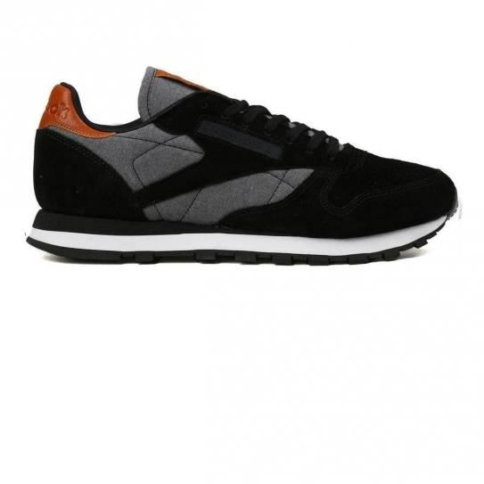 Chaussures Cl Leather Chambray Black/White-Gum e17 - Reebok