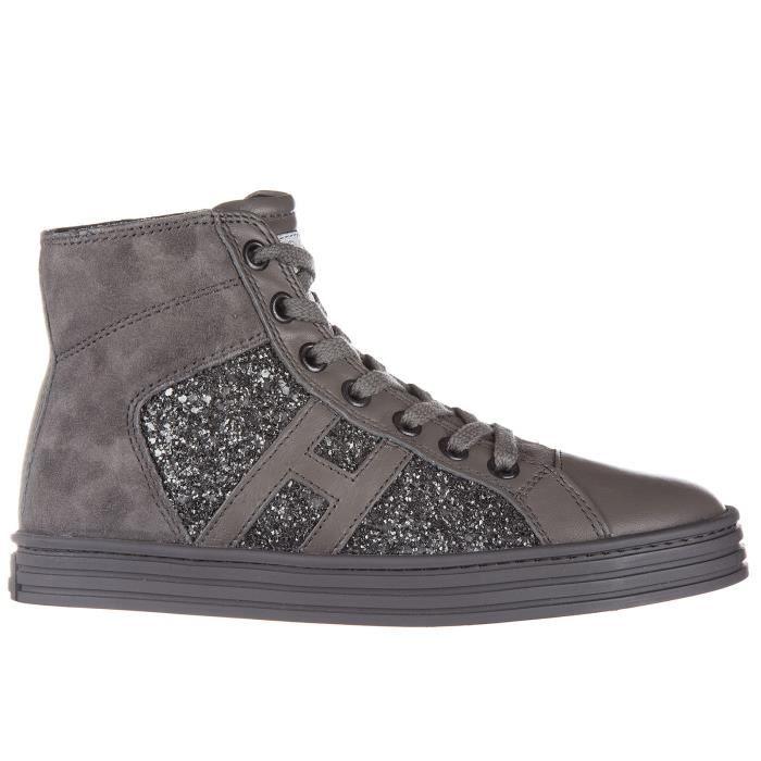 Chaussures baskets sneakers fillesvesalte camoscio r141 allacciato tessuto Hogan Rebel