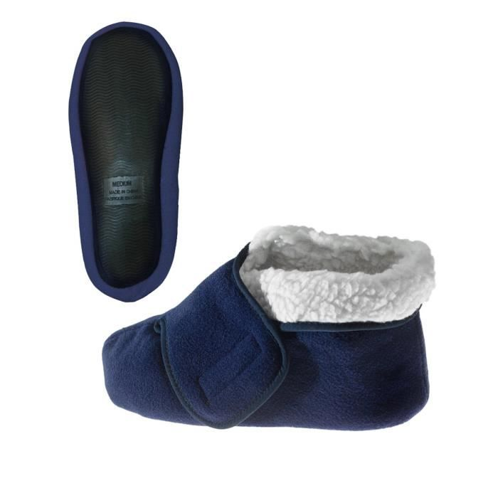 Womens - Mens Slip Resistant Bootie Slipper With Adjustable Closures DH23X Taille-XS