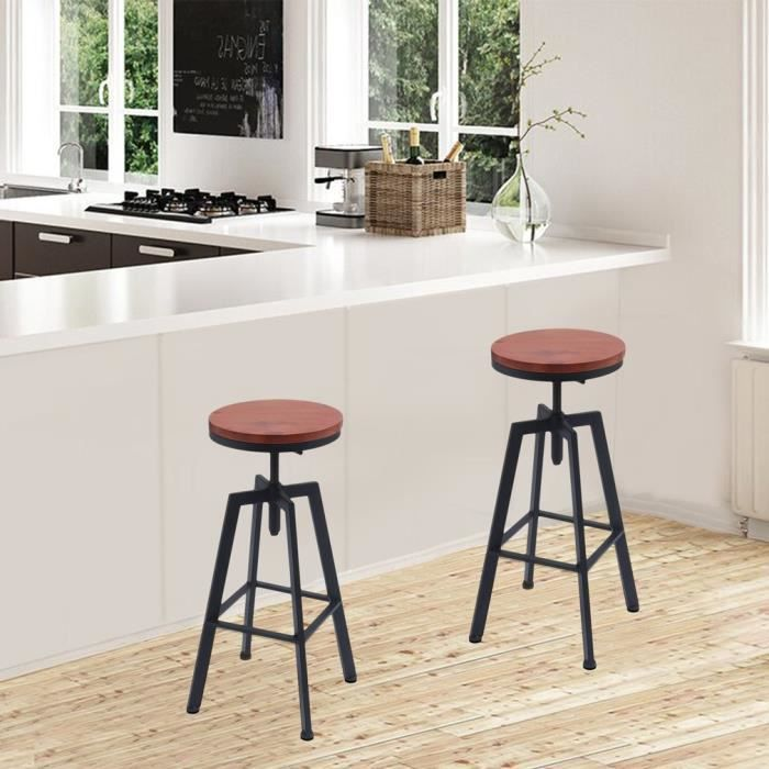 2 PACKS Chaise Industrielle Ronde