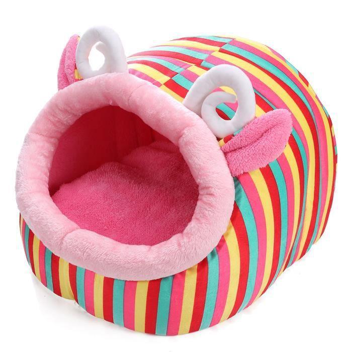 S/m/l Maison Panier Lit Corbeille Amovible Chat Chien Animaux Chatière 5 Style Color Sheep l