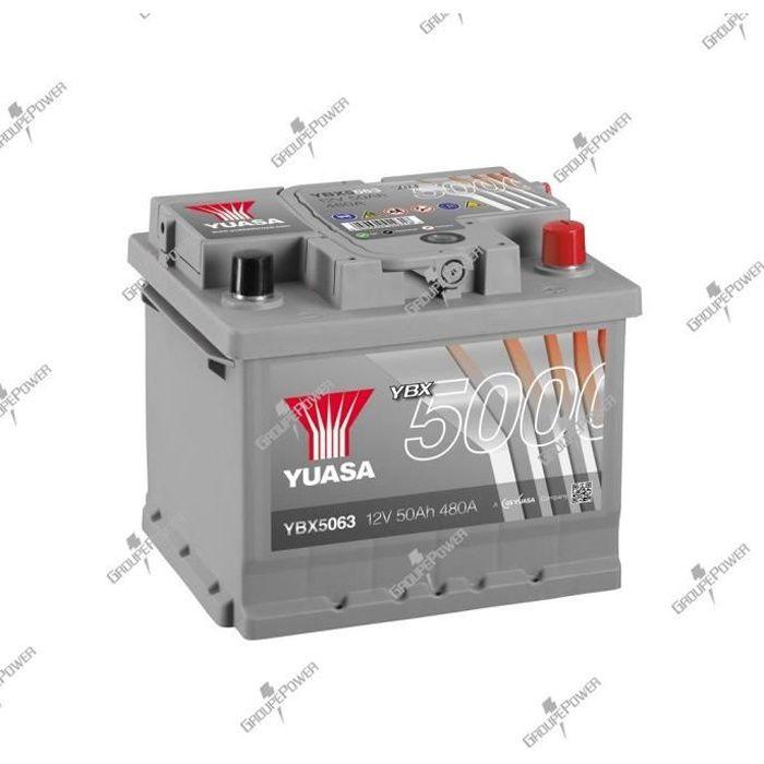 BATTERIE VÉHICULE Batterie auto, voiture YBX5063 12V 50Ah 480A Yuasa