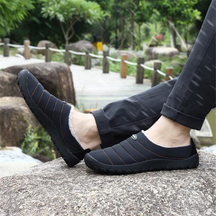 chaussures Sneaker courte hommes coton Velours et chaussures Peluche homme Hiver Chaussure pour Loisirs Chauddssx414jaune46 z8TPCpwq
