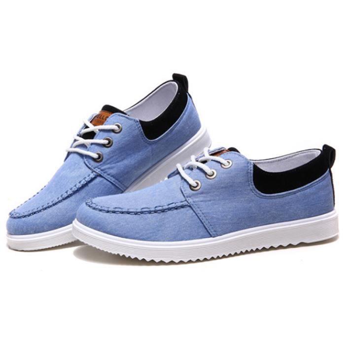 Chaussures En Toile Hommes Basses Quatre Saisons Durable YLG-XZ115Bleu43 0onwIZTO