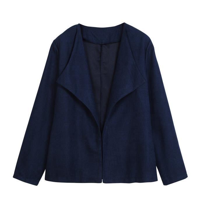 Outwear Top Suit Business Casual Veste Cooldiscovere Bureau Manteau Slim Mode Blazer Bleu Femmes zf86wqW