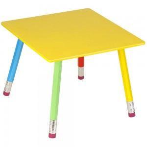 Table design enfants crayon couleur multicolore achat Table basse multicolore