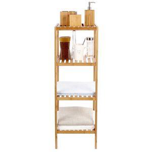 rangement salle de bain bambou achat vente pas cher. Black Bedroom Furniture Sets. Home Design Ideas
