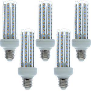 AMPOULE - LED 5 Ampoules LED E27 blanc chaud 15W=120W