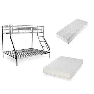 lit superpos 3 couchages 2 1 avec matelas mousse 15cm. Black Bedroom Furniture Sets. Home Design Ideas